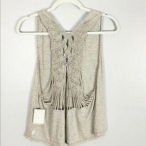 NWT Free People Movement Wilder Macrame Tank Top